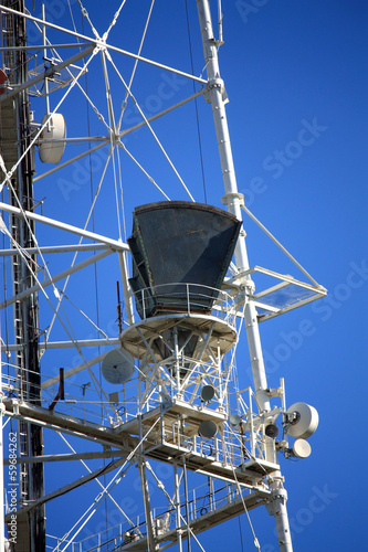 Antenna on the mast