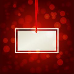 бумажный квадратный стикер карточка на красном фоне