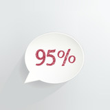 Ninety Five Percent Off Speech Bubble