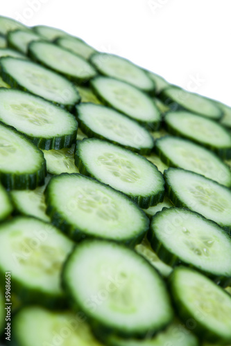 stack of  sliced cucumbers