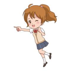 女の子/走る