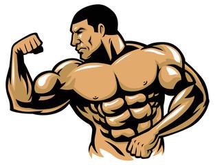 muscle bodybuilder posing