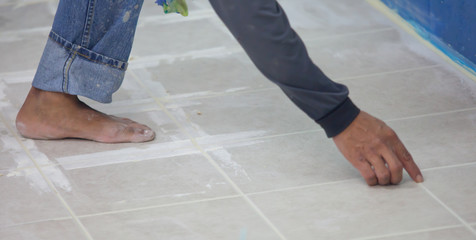 tiler at home renovation work