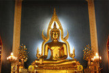 golden buddha in church
