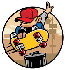 skater boy doing a trick 1