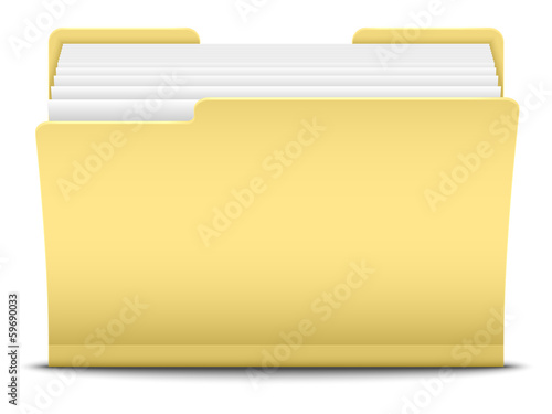 Folder, vector illustration