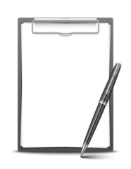 Clipboard and pen