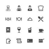 Fototapety Restaurant icons