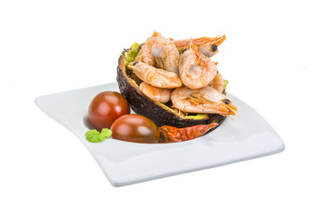 Shrimps in avocado