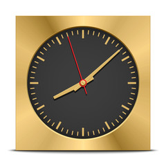 Square clock, vector illustration
