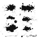 Fototapety Collection of ink splash. EPS 8 + jpg