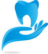 Zahn, Hand, Tooth, Logo, Vektor