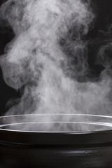 土鍋の湯気