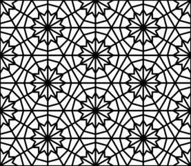Arabesque seamless pattern in editable vector file