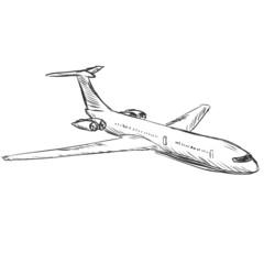 vector sketch illustration - plane