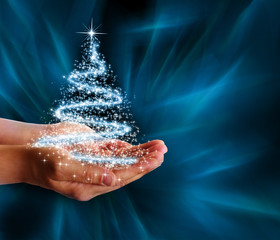 Christmas tree in your hand