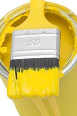 Gelbe Farbdose