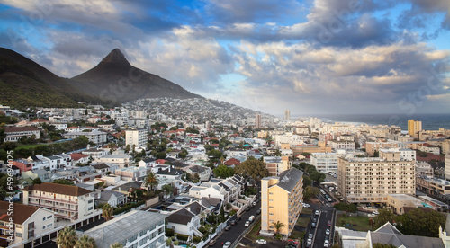 Urban City skyline, Cape Town, South Africa.