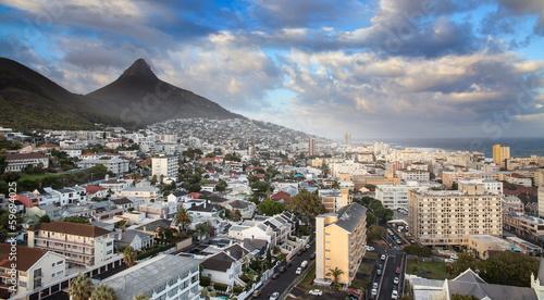 Fotobehang Zuid Afrika Urban City skyline, Cape Town, South Africa.