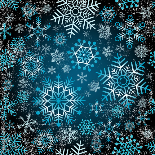 Seamless christmas grunge pattern