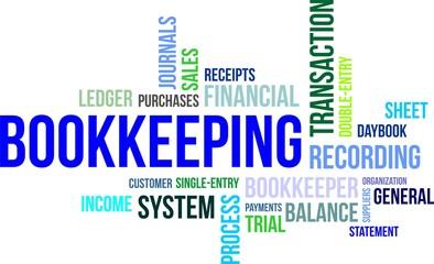 word cloud - bookkeeping