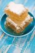 Honeycombs, vertical shot, close-up