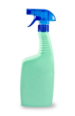 Plastic spray bottle.Isolated.