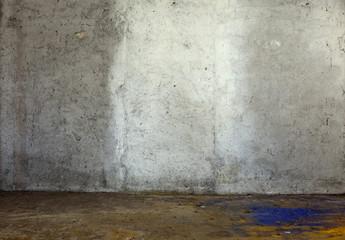 parete con intonaco in cemento