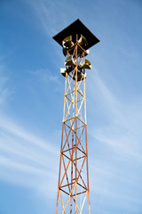 Remotely broadcast speakers on poles