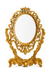 Leinwandbild Motiv Golden antique mirror, clipping path included