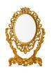 Leinwanddruck Bild - Golden antique mirror, clipping path included