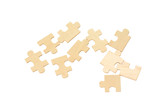 Wooden puzzle pieces.