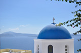 The dome of the temple on the Greek island.