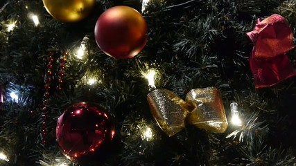 Decorated and lighted Christmas tree. No.03