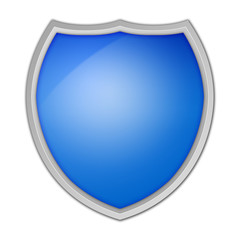 Shield on White Background