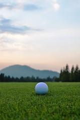 フェアウェイのゴルフボール