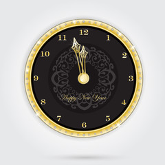 Isolated clock for new year
