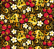 Vector seamless pattern in Russian style