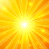 Abstract yellow vector sunny background