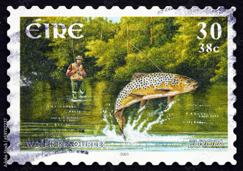 Postage stamp Ireland 2001 Fishing