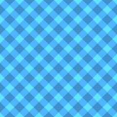 Blue and cyan checkered seamless cloth pattern.