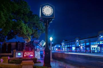 Night scene in the city of Orange California