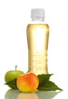 bottle of juice with sweet apples, isolated on white