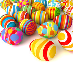 Happy Easter. Pile of eggs. Conceptual illustration