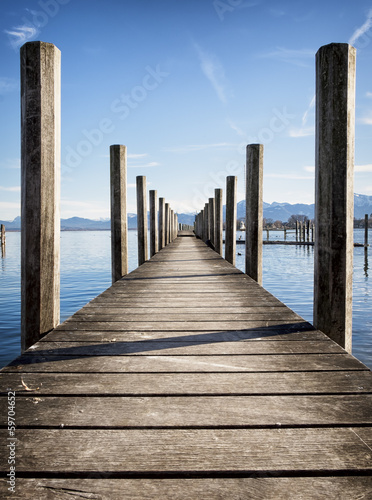 old wooden jetty © fottoo