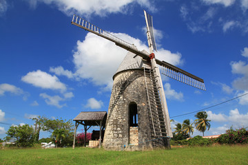 Old windmill in Guadeloupe
