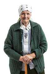 Portrait of a smiling senior woman looking at the camera