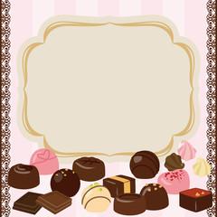チョコレートとカードのフレーム