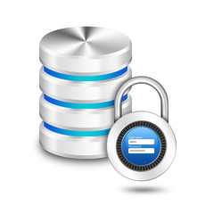 Padlock with user name password on hard disk and database