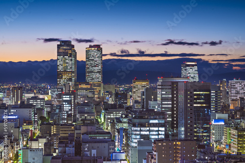 Nagoya, Japan twilight Cityscape